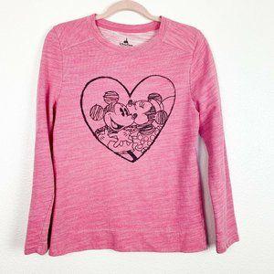Disney Park Pink Heathered Minnie Mickey Shirt Med